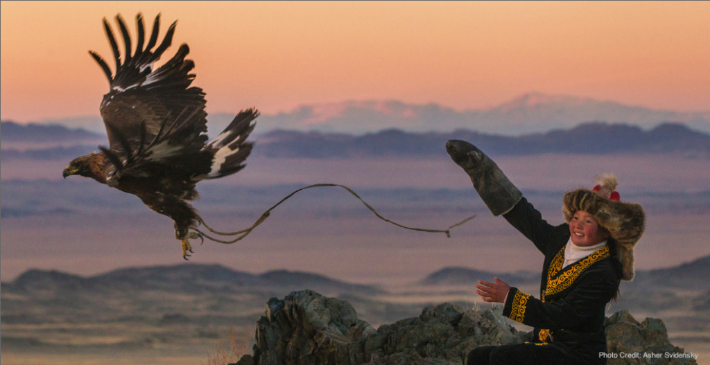 Eagle Huntress take flight