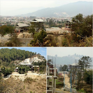 The ECDC Butterfly Home under construction in Nepal.