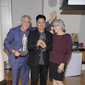 Inaugural Shine Global Spirt Award Honorees Carlos de la Cruz and Roy Langbord